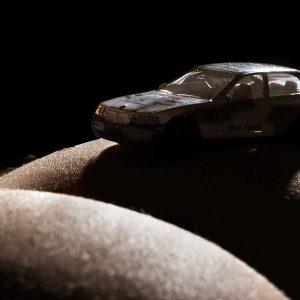 Serie: Gefährliche Kurven (Foto: Uli Pfeufer) . Ausstellung Fahrzeuge - Spielzeuge . Galerie im CCS . Suhl 2010