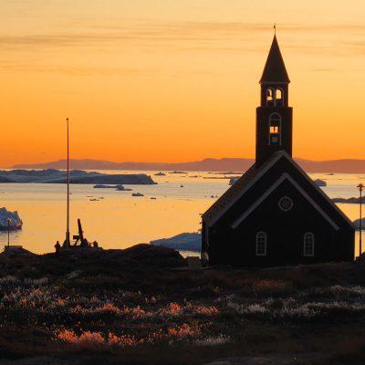 Zionskirche in Ilulissat, Grönland (Foto: Manuela Hahnebach) . Ausstellung Reiselust . Naturhistorisches Museum . Schloss Bertholdsburg . Schleusingen 2010