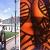 Blickfang - Fotoausstellung vor der Moneda, Santiago de Chile (Foto: Manuela Hahnebach) . Ausstellung Reiselust . Naturhistorisches Museum . Schloss Bertholdsburg . Schleusingen 2010