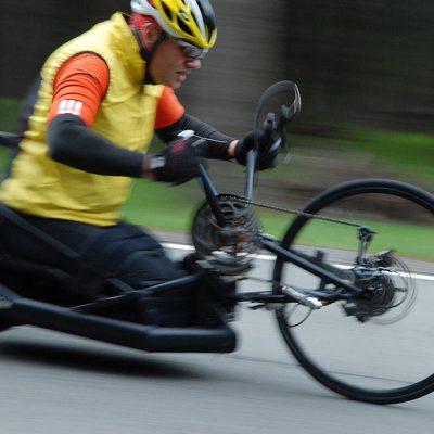 Rennsteiglauf: Handbiker Frank Kühn (Foto: Manuela Hahnebach)