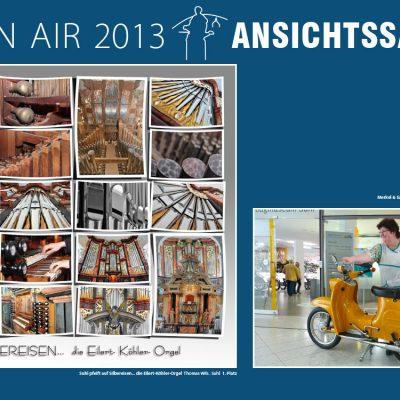 "Siegerbilder (1. - 3. Platz) ""Ansichtssache Suhl"": Thomas Wils, Bärbel Heimerl, Jutta Rapp . Foto Openair Suhl 2013"