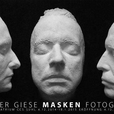Fotoausstellung Masken (Plakat) . Günter Giese . Galerie im CCS Suhl . 2014 (Foto: Günter Giese, Gestaltung: Andreas Kuhrt)