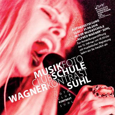 MusikFoto . Plakat zur Fotoausstellung 2018 Fotoclub Kontrast Suhl . Musikschule Suhl