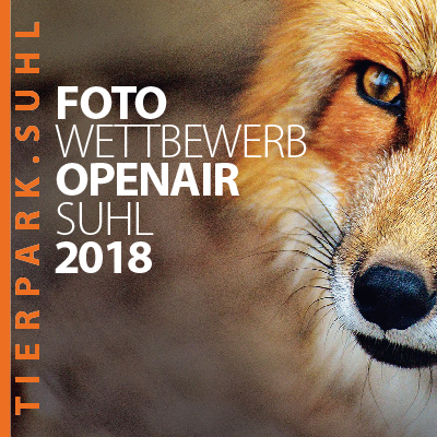 """Foto Wettbewerb Open Air Suhl 2018 """"Wildlife - Tierpark Suhl"""" (Flyer)"""