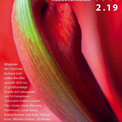 "Ausstellungsplakat Fotoausstellung ""Kontrast 2.19"" im Landratsamt Hildburghausen (16.11.2019-10.02.2020)"