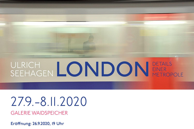 """Einladung: Fotoausstellung Ulrich Seehagen """"London"""" . Galerie Waidspeicher Erfurt . 27.09.-08.11.2020"""