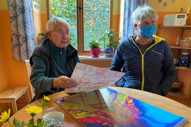 Bei Charly (Karl-Heinz Richter) in Arnstadt, 07.11.2020 (Foto: Manuela