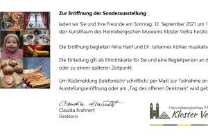 <b>12.09.2021</b> <i>Fotoausstellung</i> Heimat geht durch den Magen <i>Museum Kloster Veßra</i>
