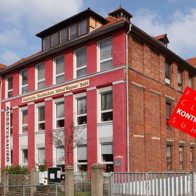 Fotoclub Kontrast Suhl . Musikschule . Rimbachstraße 43 (Foto: Störfix, Creative Commons SA 3.0)